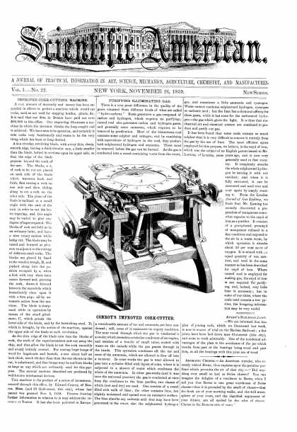 Scientific American - Nov 26, 1859 (vol. 1, #22)