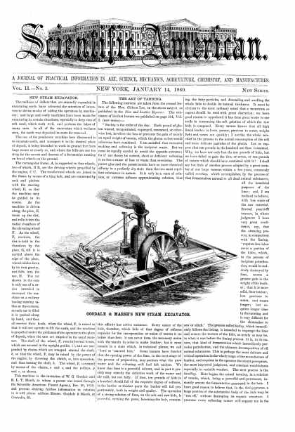 Scientific American - Jan 14, 1860 (vol. 2, #3)