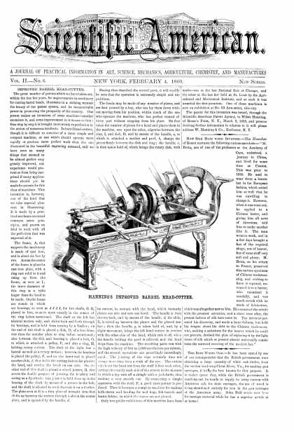 Scientific American - Feb 4, 1860 (vol. 2, #6)