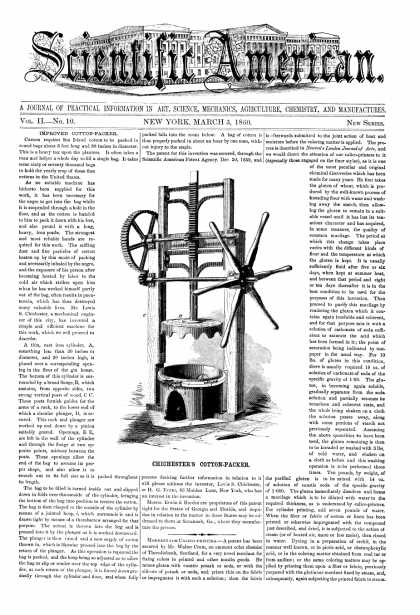 Scientific American - Mar 3, 1860 (vol. 2, #10)