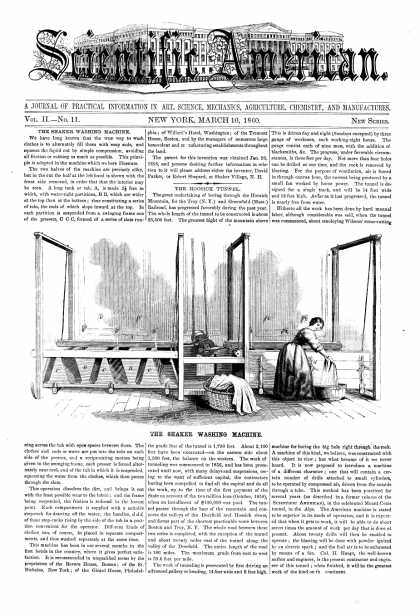 Scientific American - Mar 10, 1860 (vol. 2, #11)