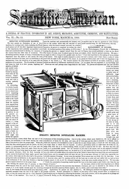 Scientific American - Mar 24, 1860 (vol. 2, #13)