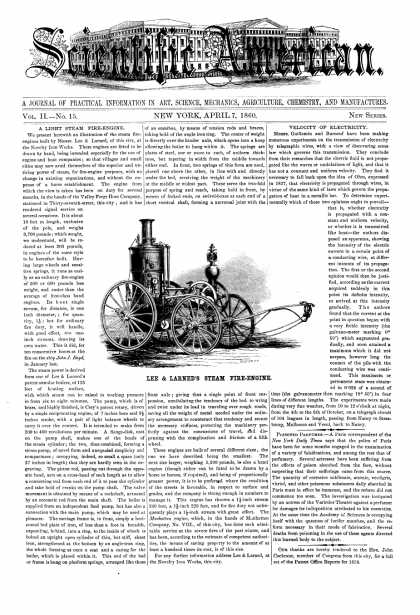 Scientific American - Apr 7, 1860 (vol. 2, #15)