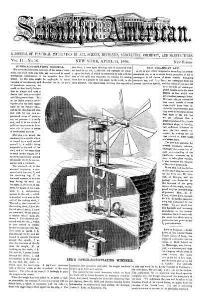 Scientific American - Apr 14, 1860 (vol. 2, #16)