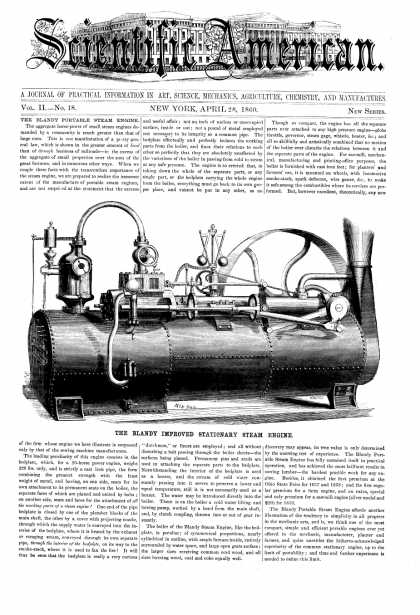 Scientific American - Apr 28, 1860 (vol. 2, #18)