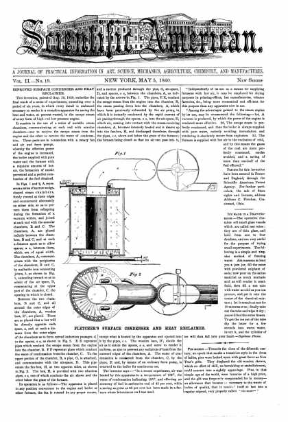 Scientific American - May 5, 1860 (vol. 2, #19)