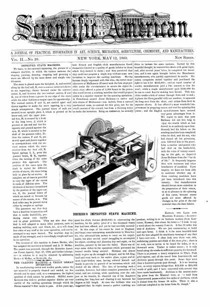 Scientific American - May 12, 1860 (vol. 2, #20)