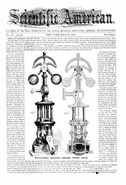 Scientific American - May 26, 1860 (vol. 2, #22)