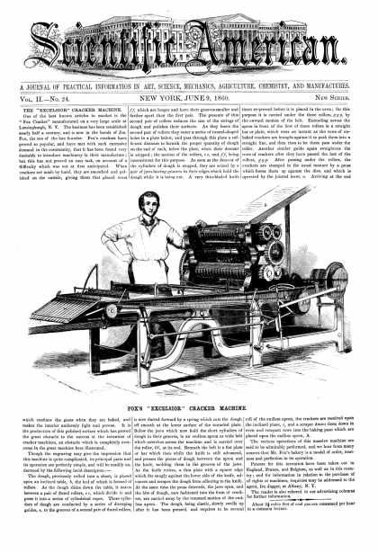 Scientific American - June 9, 1860 (vol. 2, #24)