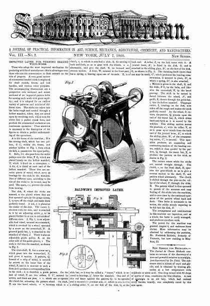 Scientific American - July 7, 1860 (vol. 3, #2)
