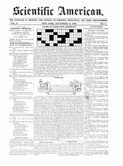 Scientific American - November 14, 1846 (vol. 2, #8)