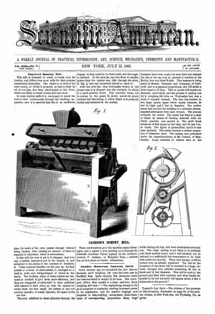 Scientific American - July 15, 1865 (vol. 13, #3)