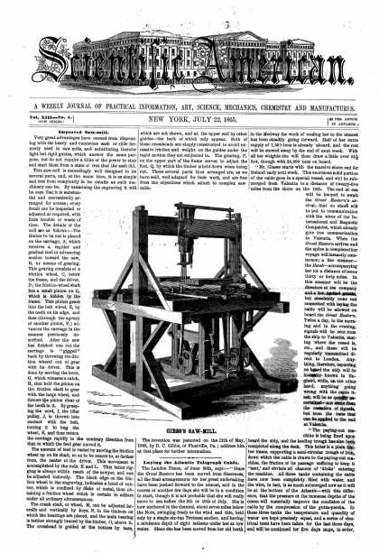 Scientific American - July 22, 1865 (vol. 13, #4)