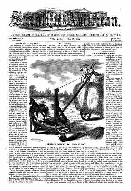 Scientific American - July 29, 1865 (vol. 13, #5)