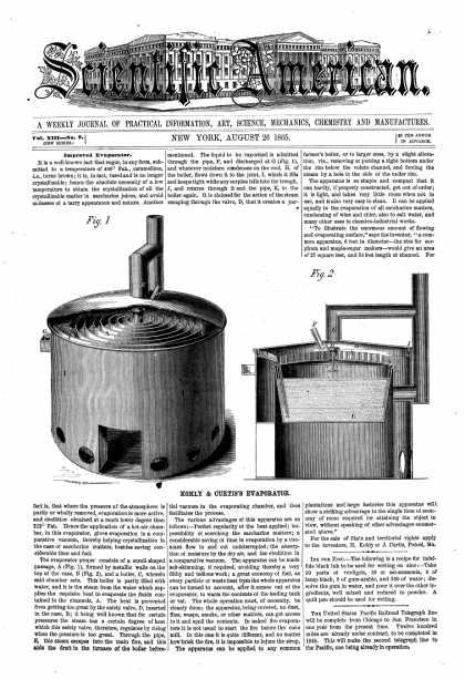 Scientific American - Aug 26, 1865 (vol. 13, #9)