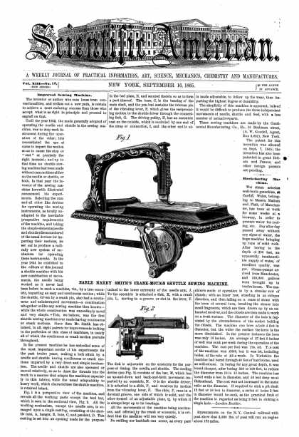 Scientific American - Sept 16, 1865 (vol. 13, #12)