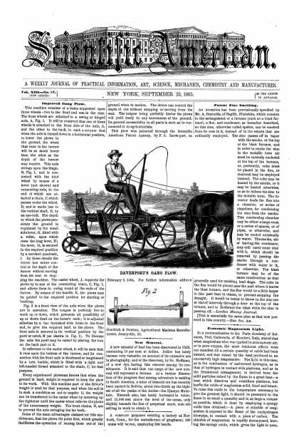 Scientific American - Sept 23, 1865 (vol. 13, #13)