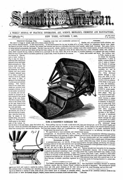 Scientific American - Oct 7, 1865 (vol. 13, #15)