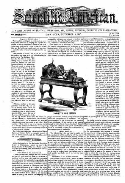 Scientific American - Nov 4, 1865 (vol. 13, #19)