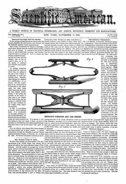 Scientific American - Nov 11, 1865 (vol. 13, #20)