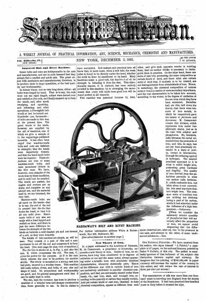 Scientific American - Dec 2, 1865 (vol. 13, #23)