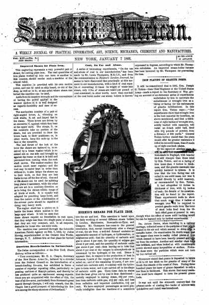 Scientific American - Jan 7, 1866 (vol. 14, #2)