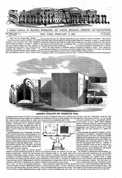 Scientific American - Feb 17, 1866 (vol. 14, #8)