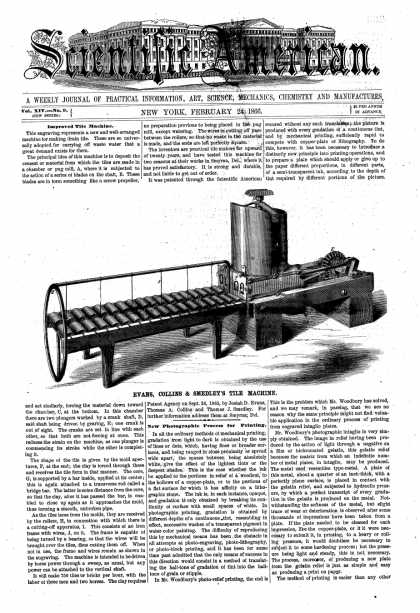 Scientific American - Feb 24, 1866 (vol. 14, #9)