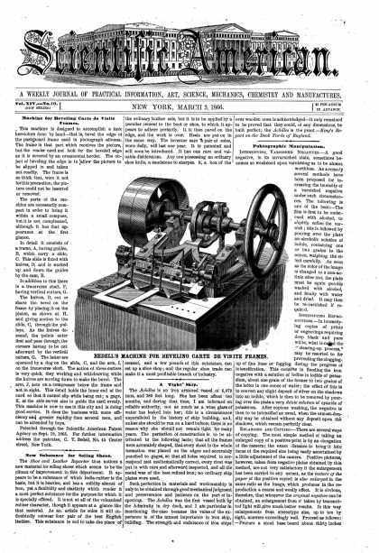 Scientific American - Mar 3, 1866 (vol. 14, #10)