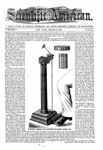 Scientific American - Mar 31, 1866 (vol. 14, #14)