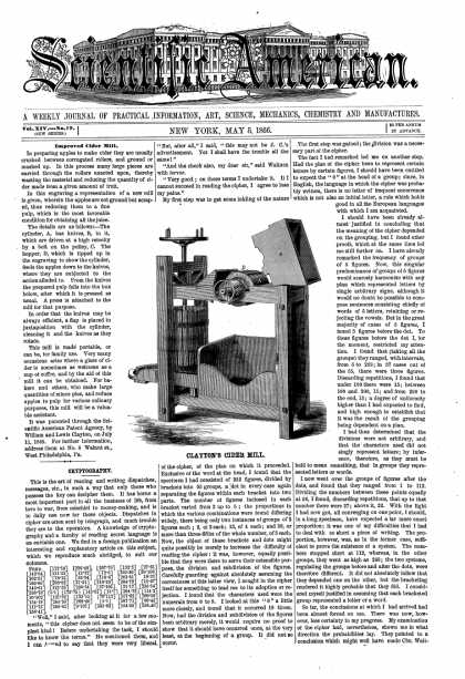 Scientific American - May 5, 1866 (vol. 14, #19)