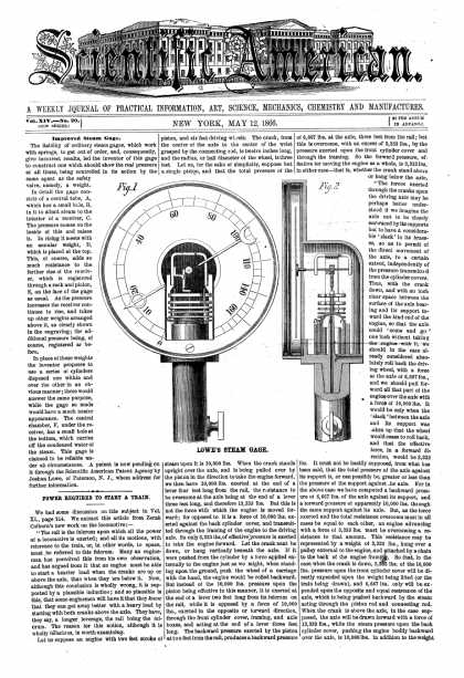 Scientific American - May 12, 1866 (vol. 14, #20)