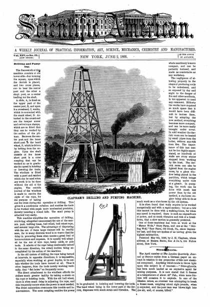 Scientific American - June 2, 1866 (vol. 14, #23)