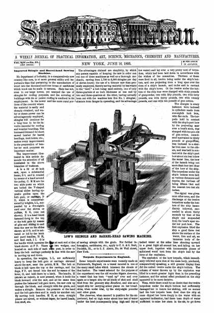 Scientific American - June 16, 1866 (vol. 14, #25)
