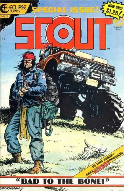 Scout 9 - Eclipse - Monster Truck - Large Tires - Gun - Weapon - Timothy Truman