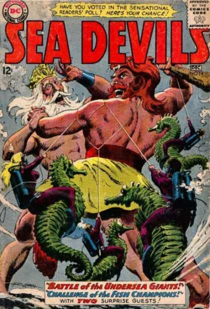 Sea Devils 14 - Dc Comics - Dec - No 14 - Undersea Giants - Retro - Jack Adler