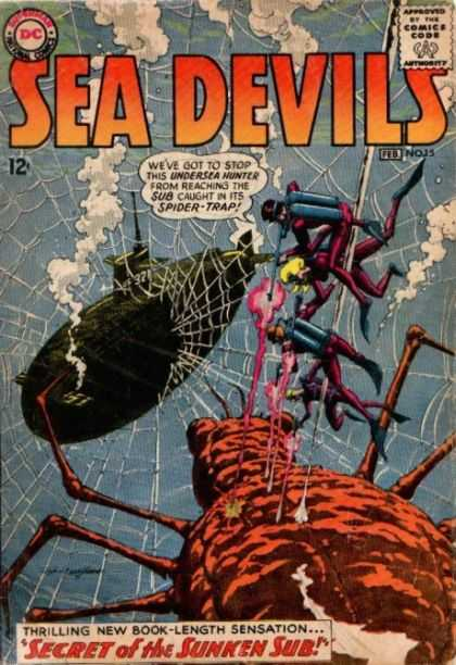 Sea Devils 15 - Dc - Web - Submarine - Underwater - Secret Of The Sunken Sub - Jack Adler
