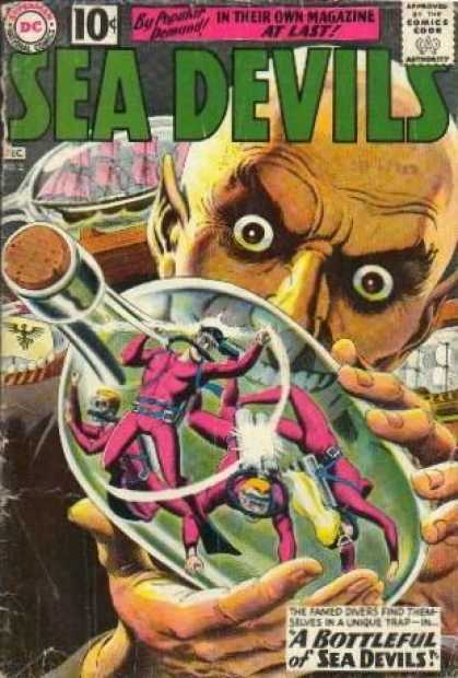 Sea Devils 2 - A Bottleful Of Sea Devils - Imprisoned Plungers - Bald Man - Bottle - In Their Own Magazine At Last - Jack Adler