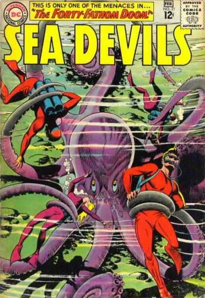 Sea Devils 21 - Sea Devils - Water - Men - Octopus - Stones