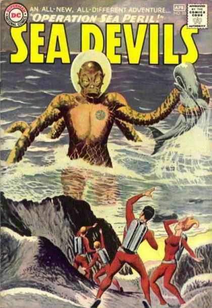 Sea Devils 22 - Sea Devils - Operation - Peril - Dc - Comics - Jack Adler