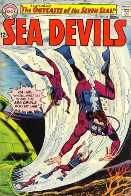 Sea Devils 23 - The Outcasts Of The Seaven Seas - Ha-ha Whirl - Waters - Whirl Them Into My Lair - National - Jack Adler