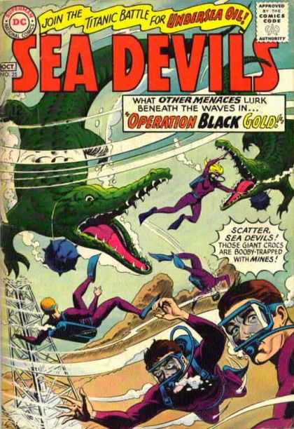 Sea Devils 25 - Alligators - Scuba Divers - Under Water - Snorkel - Operation Black Gold