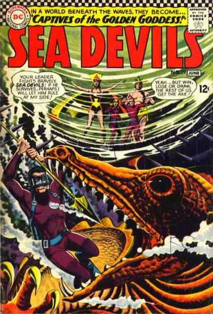 Sea Devils 29 - Captives Of The Golden Goddess - Get The Axe - Leader Fighter - World Beneath The Waves - Fight - Jack Adler