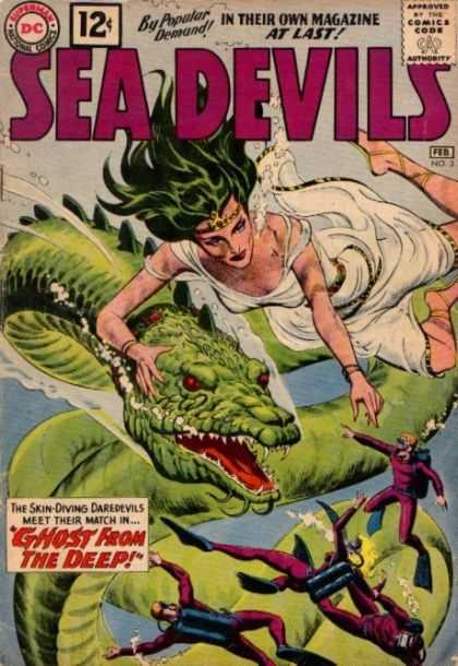 Sea Devils 3 - Sea Devils - Woman - Toga - Ghost From The Deep - Scuba Divers - Jack Adler
