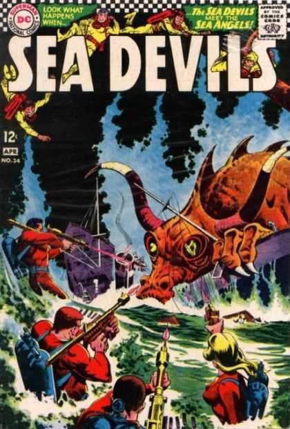 Sea Devils 34 - Happens - Look - Monster - Sea Angels - Meet - Carmine Infantino, Jack Adler