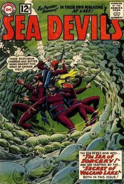 Sea Devils 4 - Dc - Dc Comics - Fish - Sea - Dive - Jack Adler