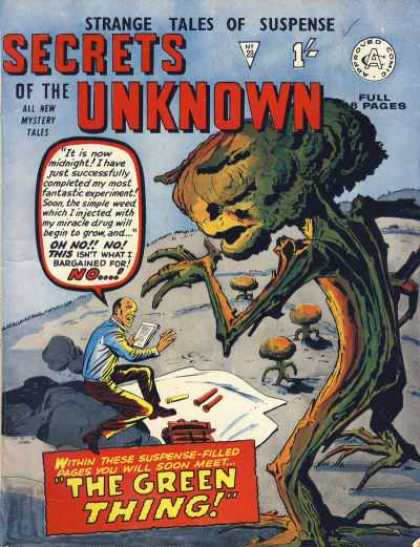 Secrets of the Unknown 29 - Strange Tales Of Suspense - Number 23 - The Green Thing - Full 8 Pages - All New Mystery Tales