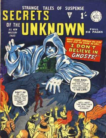 Secrets of the Unknown 34 - Strange Tales Of Suspense - Full 68 Pages - All New Mystery Tales - Monster - Man