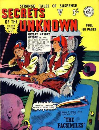 Secrets of the Unknown 50 - Mayday - The Facsimiles - Chair - Controls - Alien