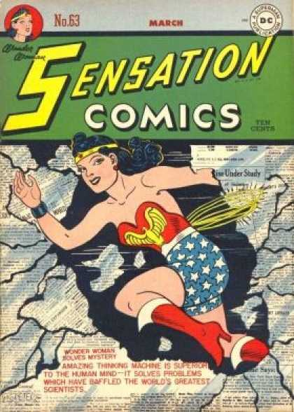 Sensation Comics 63 - Dc - Costume - Superhero - Ten Cents - Woman